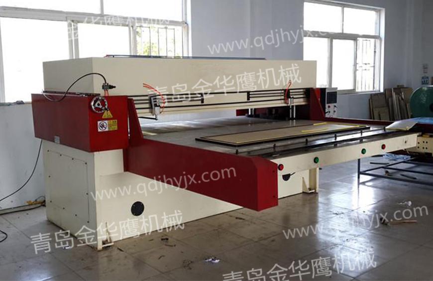 Unilateral feeding cutting machine
